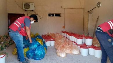صورة الهلال الأحمر صبراتة يوزع أكثر من 70 سلة غذائية على الأسر المحتاجة