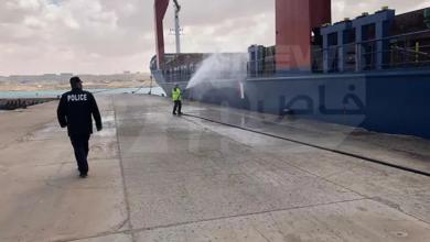 "Photo of الجراري لـ""218″: سفينة محملة بمواد تنظيف تصل طبرق"
