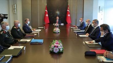 صورة ليبيا على طاولة اجتماع أمني تركي برئاسة أردوغان