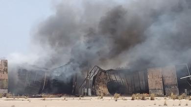 "Photo of النيران تلتهم مخازن اللجنة المركزية للانتخابات البلدية ""صور"""
