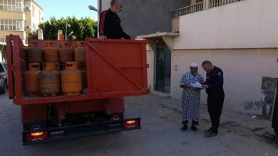 صورة بلدية طرابلس توضّح آلية توصيل أسطوانات غاز الطهي