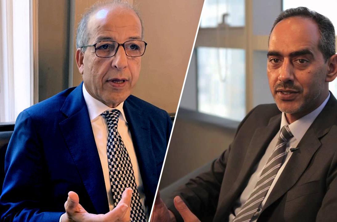 عضو مجلس الإدارة طارق المقريف ومحافظ مصرف ليبيا المركزي الصديق الكبير