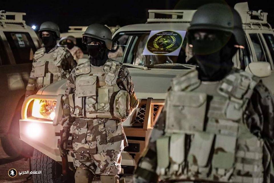 جانب من قوات الجيش الوطني