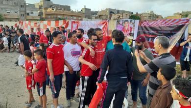 """Photo of أرض الجزارة"""" تحتفل""""  بقدامى الأهلي بنغازي"""