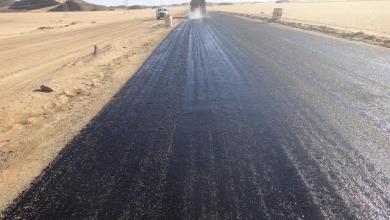 """صورة الحكومة الليبية: بدء التعاقد لتنفيذ طريق """"بوزريق"""" – الكُفرة"""