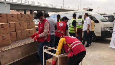 صورة الهلال الأحمر طرابلس يستلم كمية من المساعدات الوقائية