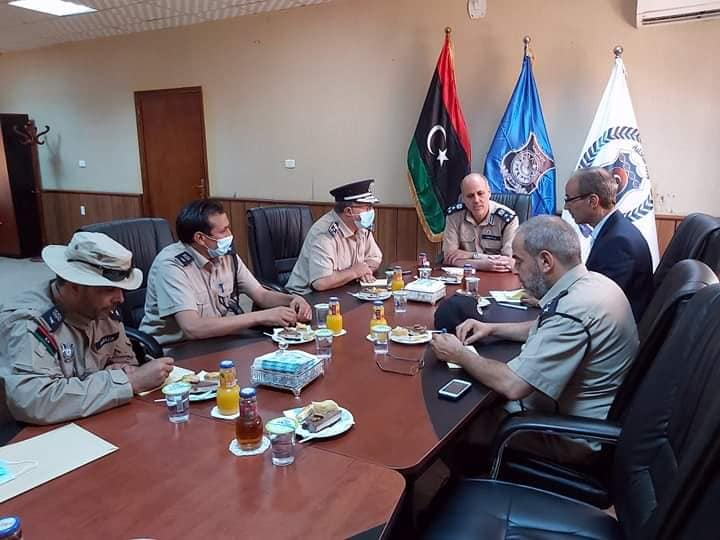 اجتماع جهاز المباحث الجنائية طرابلس مع مباحث غريان