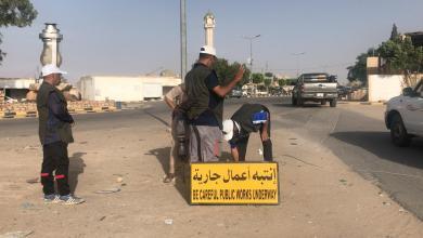 صورة حملة تطوعية لتحسين الطرق في الزنتان