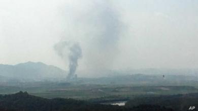 """Photo of """"تصعيد خطير"""" بين الكوريتين.. وتفجير مكتب الارتباط"""