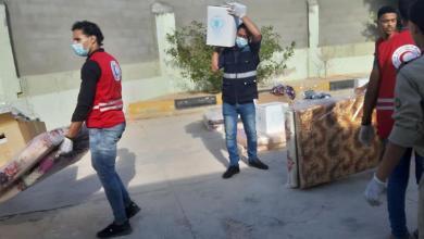 صورة درنة.. هيئة الإغاثة توزع المساعدات على نازحي المنطقة الغربية
