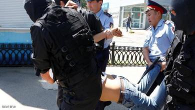 صورة اعتقال العشرات بعد تظاهرات مناوئة للحكومة في كازاخستان