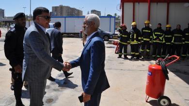 افتتاح نقطة إطفاء جديدة بميناء طرابلس-الشعاب