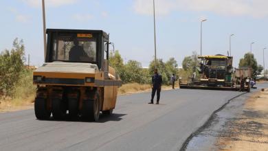 Photo of بلدية بنغازي تبدأ في أعمال التوسعة والصيانة للمدخل الجنوبي للبلدية
