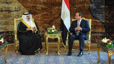 صورة ملك البحرين يبحث مع السيسي الملف الليبي والتسوية السياسية للأزمة