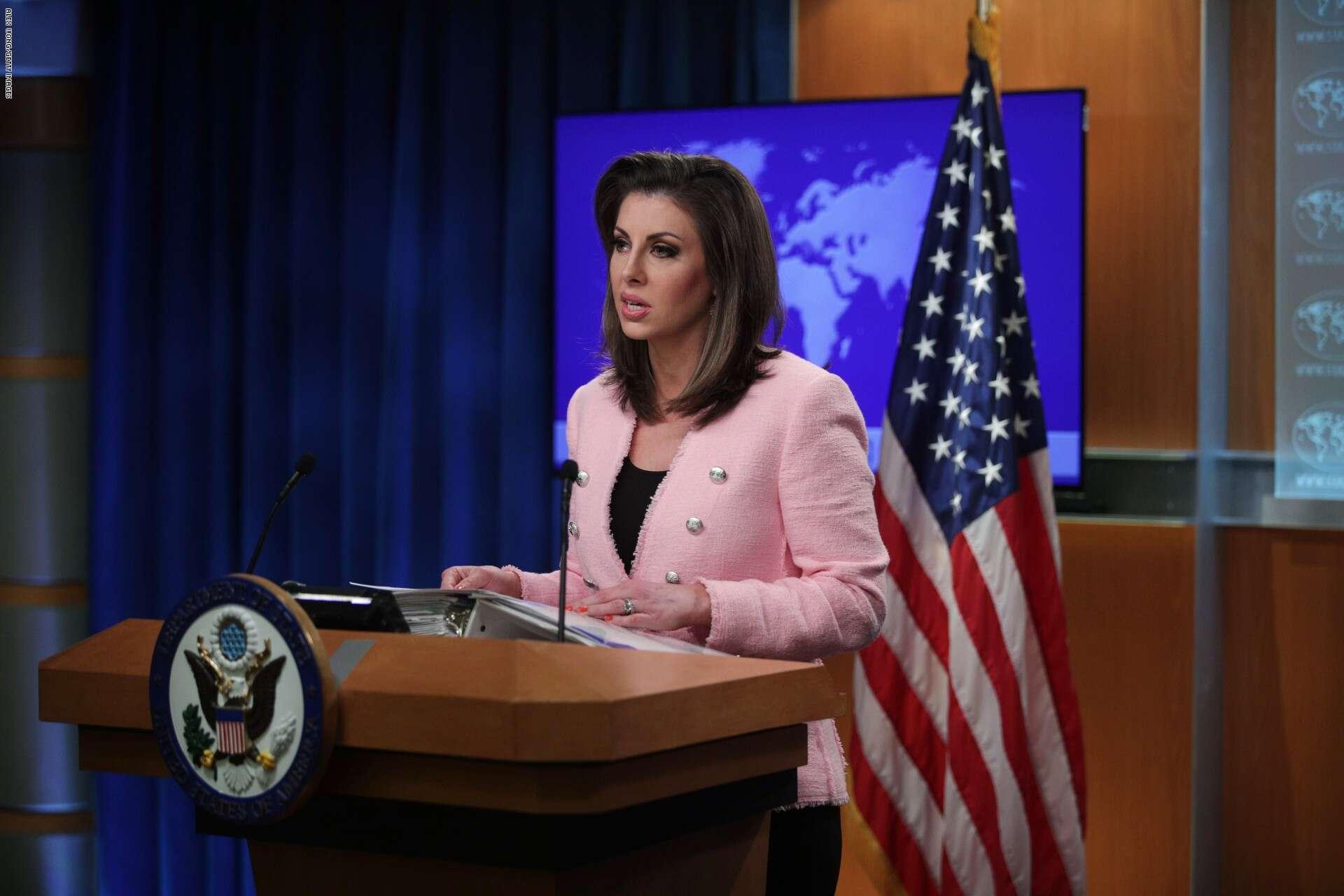 المتحدثة باسم الخارجية الأميركية مورغان أورتاغوس