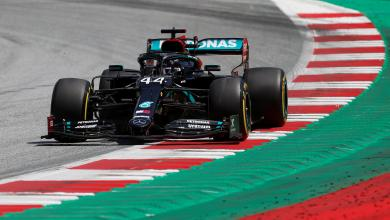 "Photo of هاميلتون ""الأسرع"" في عودة الفورمولا1"