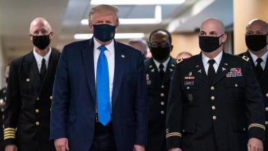 Photo of لأول مرة.. ترامب يرضخ للضغوط ويرتدي الكمامة