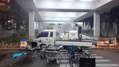 """صورة """"مكافحة العدوى"""" يطلق حملة لتعقيم مستشفى الخضراء"""