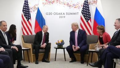 """صورة حوار أميركي روسي """"من أجل سلام العالم"""""""