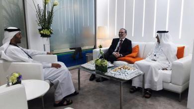 """صورة """"صنع الله"""" يؤكد لوزير الطاقة الإماراتي حياد المؤسسة الوطنية للنفط"""