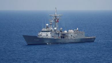 صورة الجيش يرصد 5 فرقاطات تركية وسفينة إمداد قبالة مصراتة