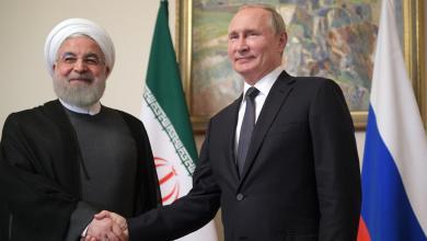 صورة قضايا إقليمية ودولية تجمع بوتين وروحاني