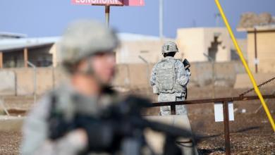 صورة استهداف قاعدة عسكرية للتحالف في العراق