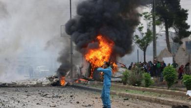 صورة قتلى بانفجار سيارة ملغومة شمال غرب سوريا