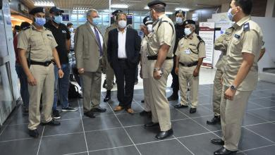"""صورة """"مدير أمن المنافذ"""" يزور مطار مصراته الدولي والميناء البحري"""