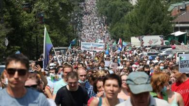 Photo of مظاهرات ضخمة في روسيا احتجاجاً على قرار للكرملين