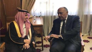 صورة توافق مصري سعودي حول خطورة التدخلات الخارجية في ليبيا
