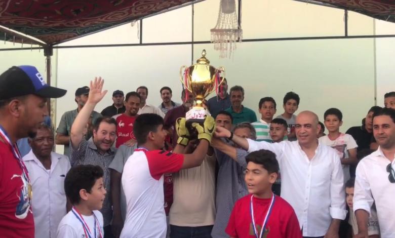 """Photo of """"حي الزيتون"""" بطل لدوري الكيش لناشئي كرة القدم"""