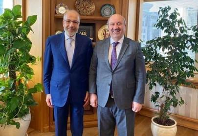 """محافظ مصرف ليبيا المركزي """"الصديق الكبير""""يجتمع في اسطنبول مع رئيس هيئة الإشراف والتنظيم التركية """"محمد علي اكبن"""""""