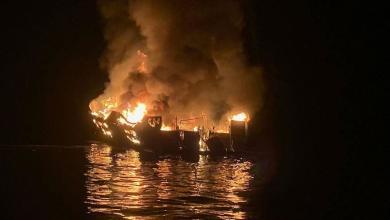 صورة قتلى وجرحى بحريق قارب مهاجرين قبالة سواحل إيطاليا