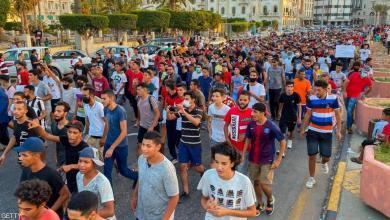 صورة طرابلس.. تحشيدات عسكرية لمنع تجمع متظاهري حراك 23 أغسطس