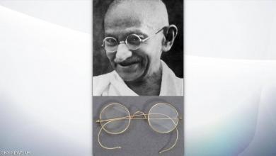 صورة نظارة غاندي تصل لدار مزادات بطريقة غريبة