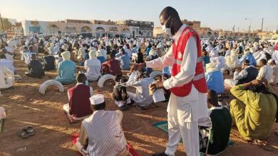 صورة مع أول أيام العيد..الهلال الأحمر الليبي يُكثّف نشاطه التوعوي من كورونا