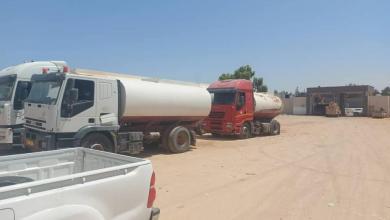 صورة القوة المشتركة تضبط 4 سيارات نقل الوقود للتهريب جنوب الزنتان
