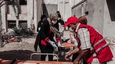 صورة الهلال الأحمر سرت يجري مناورة تدريبية في مجال الإسعافات الأولية