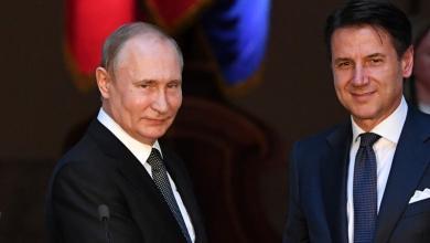 """صورة """"بوتن"""" و """"كونتي"""": يجب حل الأزمة الليبية سياسياً"""