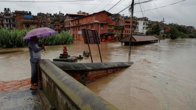 صورة السيول تواصل حصد الأرواح في نيبال