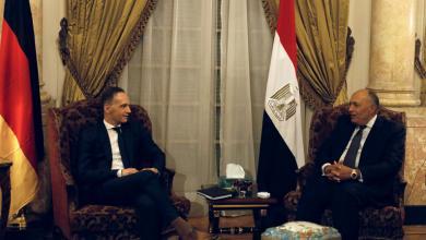 صورة توافق مصري-ألماني على تطورات الملف الليبي