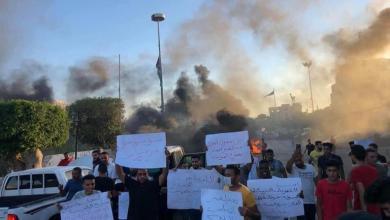 "Photo of ""تردي المعيشة"" عنوان مظاهرات طرابلس والزاوية-((صور))"
