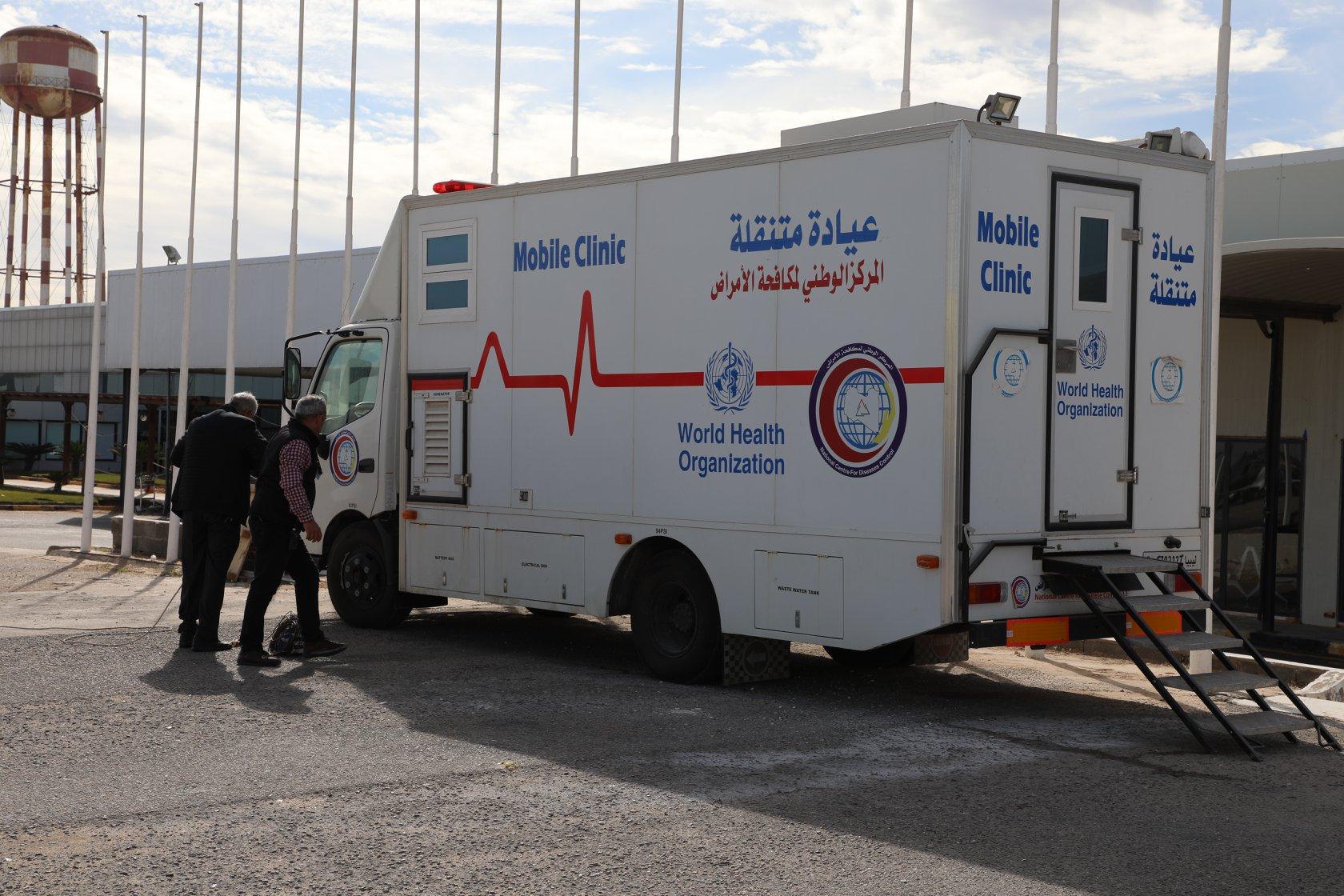 المركز الوطني يوفر عيادتين متنقلتين للكشف عن كورونا في بلدية مصراتة