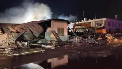 Photo of حريق يطال صالة الركاب بمطار مصراتة الدولي