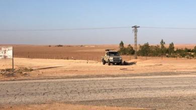 """Photo of غارة لسلاح الجو في """"وادي بَِيَْ"""" المؤدية إلى """"الجفرة"""""""