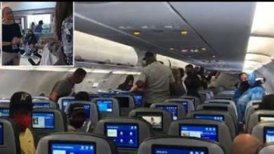 """صورة طفلة تتسبب بإخلاء طائرة ركاب.. والسبب """"كمامة"""""""