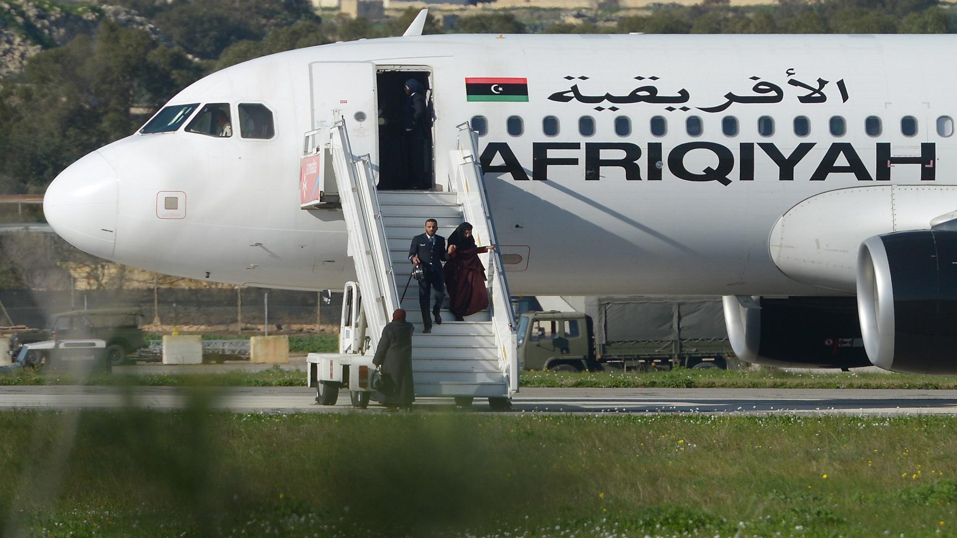 """إحدى رحلات شركة الخطوط الجوية الأفريقية الليبية-""""صورة أرشيفية"""""""
