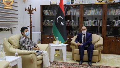 """صورة وزيرة خارجية إسبانيا تؤكد لــ """"عقيلة صالح"""" دعمها لآلية توزيع عادل لعائدات النفط"""