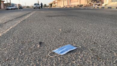 صورة انتشار ظاهرة رمي الكمامات على الطرقات في بدر (صور)